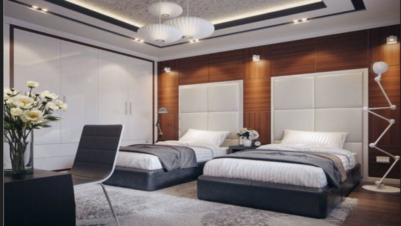 Awesome Twin Modern Bedroom Design Ideas With Double Bed For Boys And Girls Room Room Ideas Youtube Modern Bedroom Bedroom Bed Design Bedroom Design