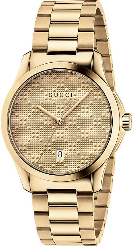 Gucci YA126461 G Timeless gold-plated stainless steel watch ... 79c82530633