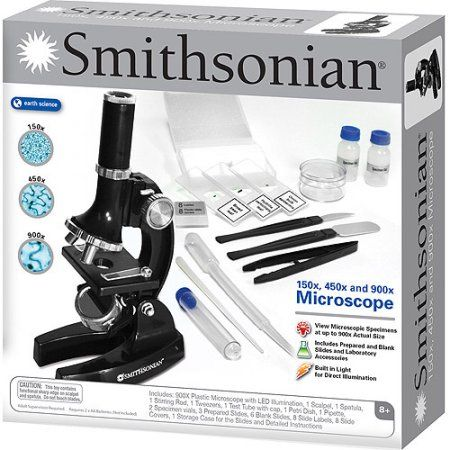smithsonian 150x 450x 900x microscope kit walmart com wishlist