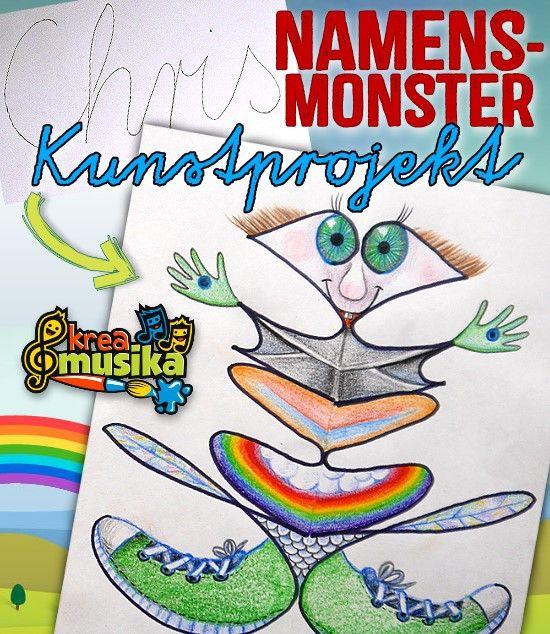 Namensmonster-Kunstprojekt via kreamusika.de