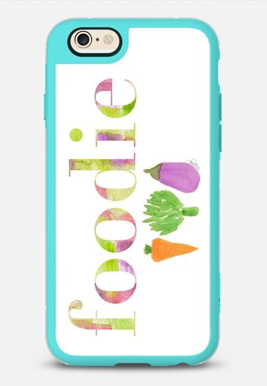 Vegetable Foodie iPhone 6 case by in Teal & Clear by Outside In Art Studio   @casetify