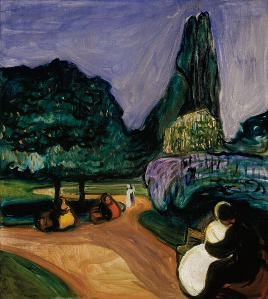 Edvard Munch - Nuit d'été à Studenterlunden, 1899