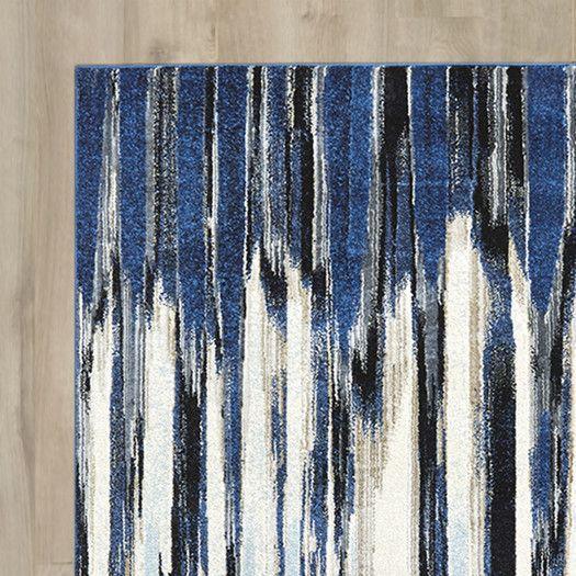 Best Varick Gallery Beach Channel Indigo Area Rug Allmodern 400 x 300