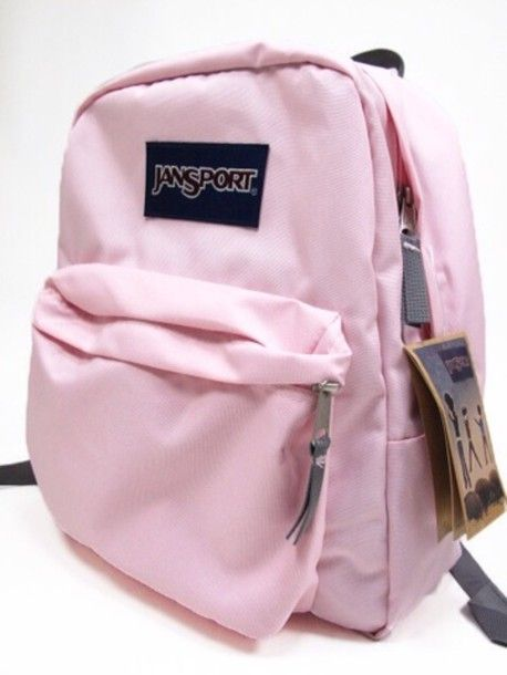 Bag: jansport, pale pink, light pink, pink,