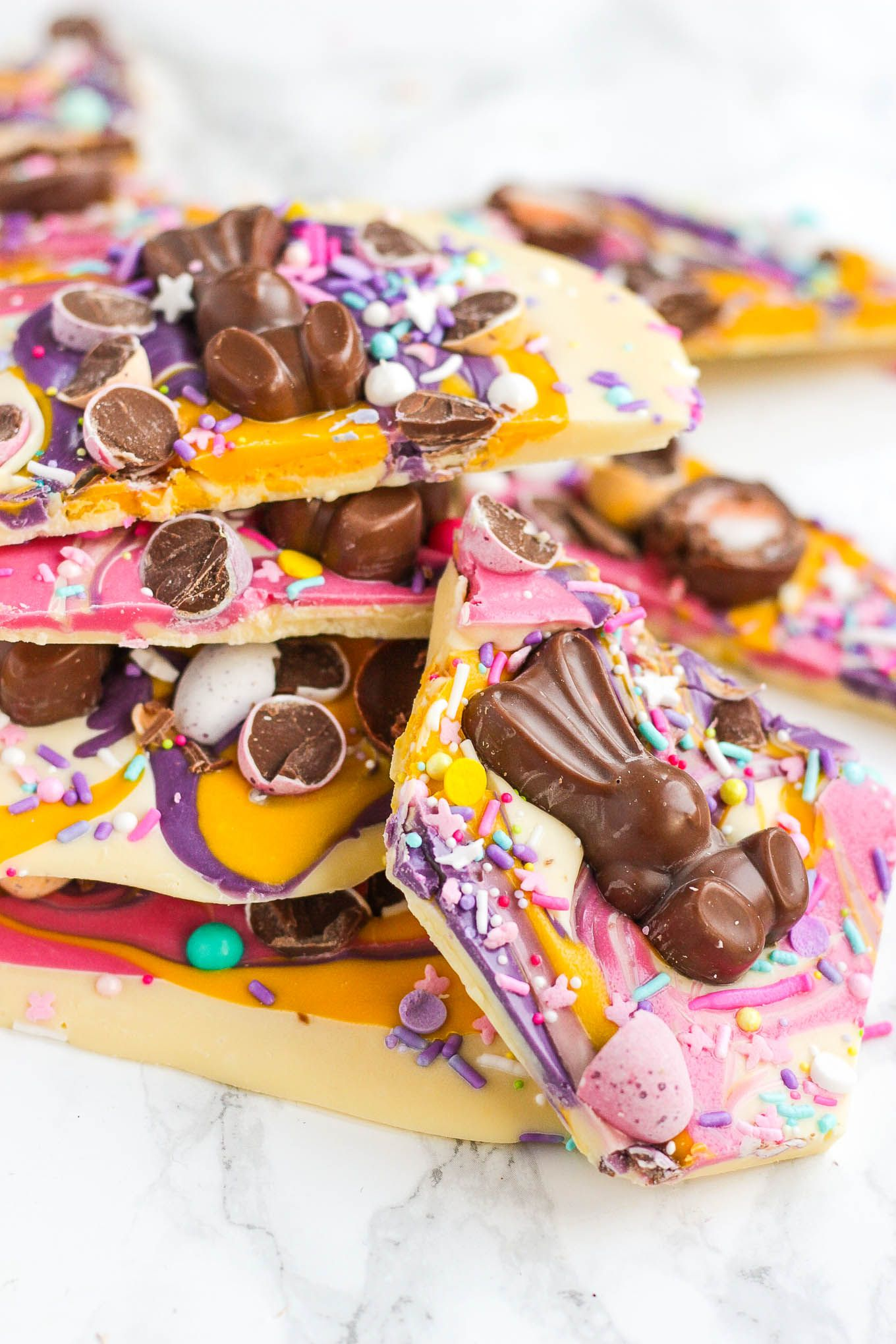 Chocolate easter bark with candy malteaster bunnies recipe chocolate easter bark with candy malteaster bunnies negle Image collections