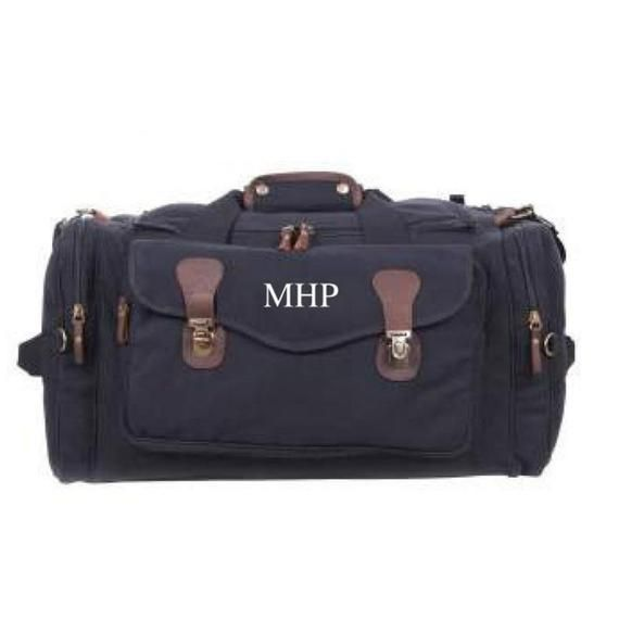 Personalized Duffle Bag  Canvas Weekender Travel Bag  Groomsmen Gift  Mens Duffle Bag  Monogram  Products