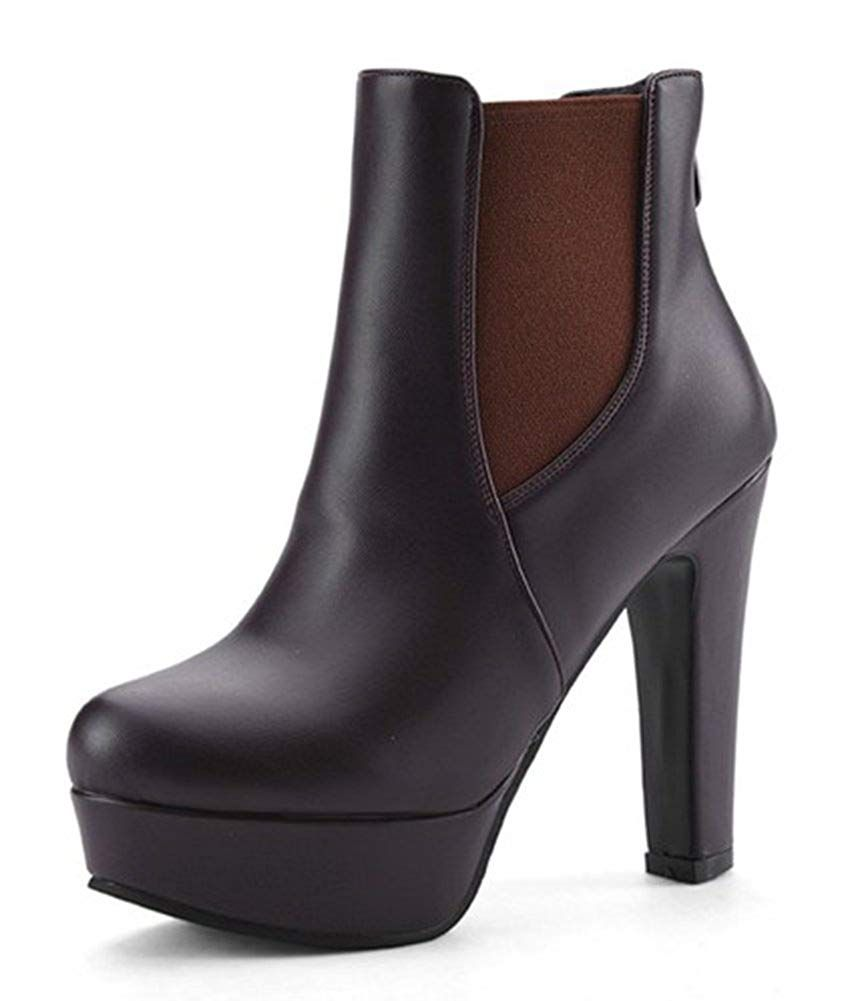 f24c491211 Aisun Women's Fashion Round Toe Back Zipper Platform Chunky High Heels  Booties Dress Ankle Boots Shoes *** Many thanks for having seen our picture.