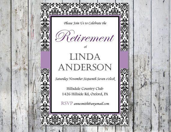 Printable Retirement Party Invitation Elegant by PinkCloverPaper – Free Printable Retirement Party Invitation Templates