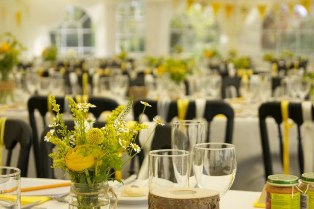 Wedding Decoration Ideas Silver And Yellow Wedding Decorations With