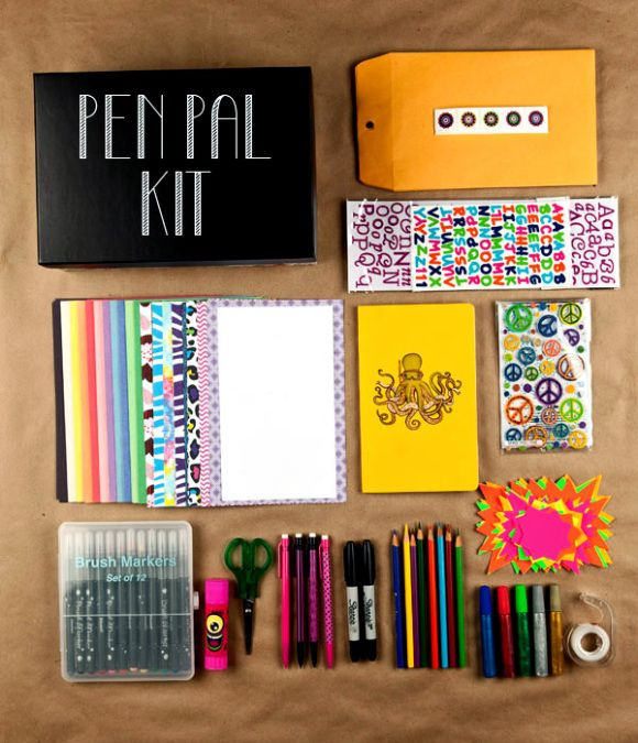 PenPal kit // I love this idea...... Given me a plan for Christmas in fact!,