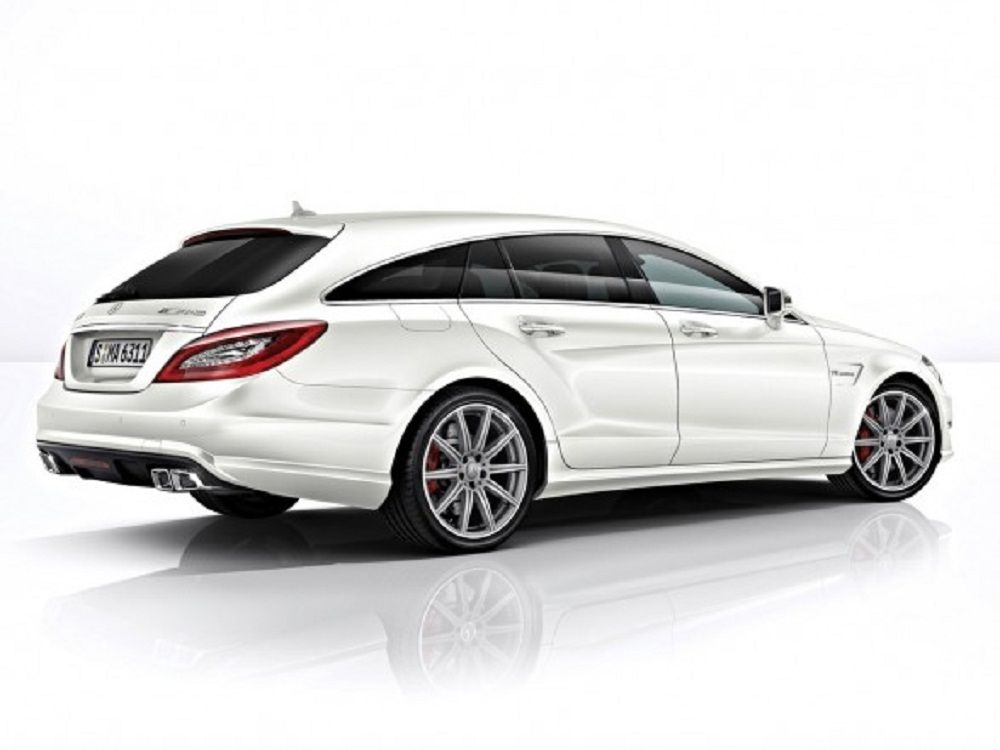 2014 mercedes benz cls63 amg s model shooting brake rear side view concept
