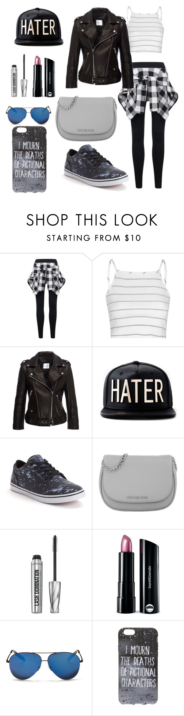 """Haters... Just leave"" by gamergirl45723 ❤ liked on Polyvore featuring Glamorous, Anine Bing, Vans, Michael Kors, Bare Escentuals and Victoria Beckham"