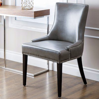 nailhead dining room chairs formal dining latitude run arline nailhead dining chair upholstery leather gray