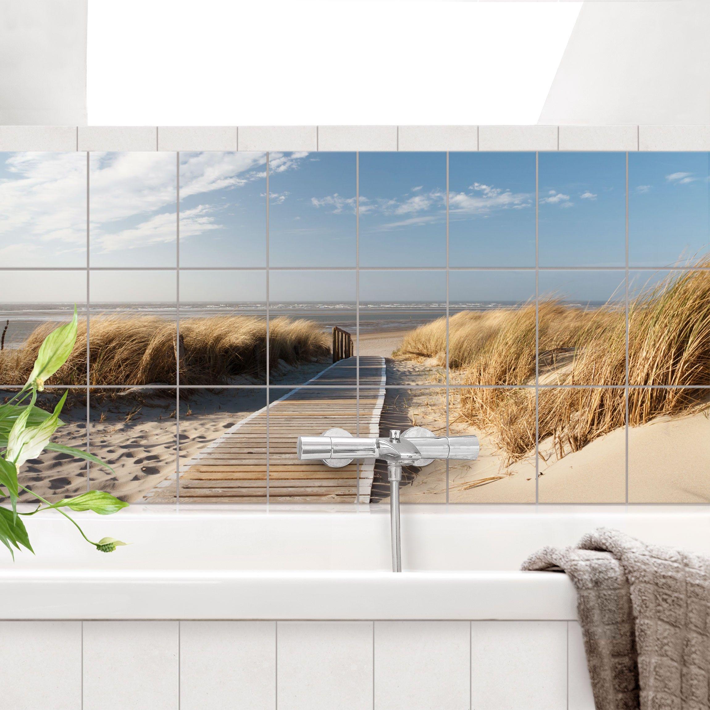 Neuer Look Fur Fliesen Im Badezimmer Mit Fliesenbildern Fliesenbilder Fliesenaufkleber Ostsee Strand