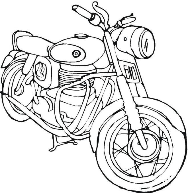 Motorcycle coloring page | Kids CoLoRing Pages | Pinterest ...