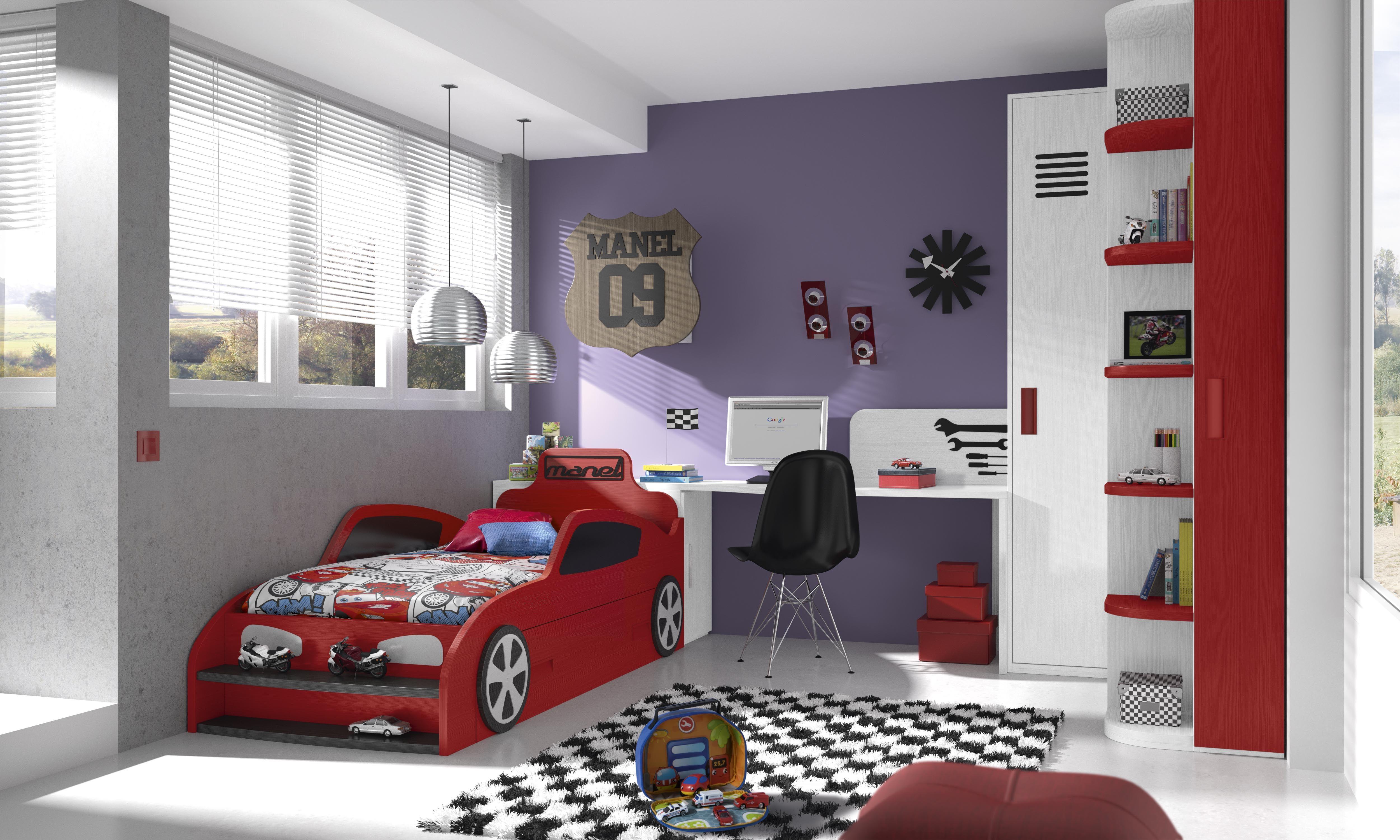 Habitaciones infantiles tem ticas dibujos animados coches2 for Dormitorio animado