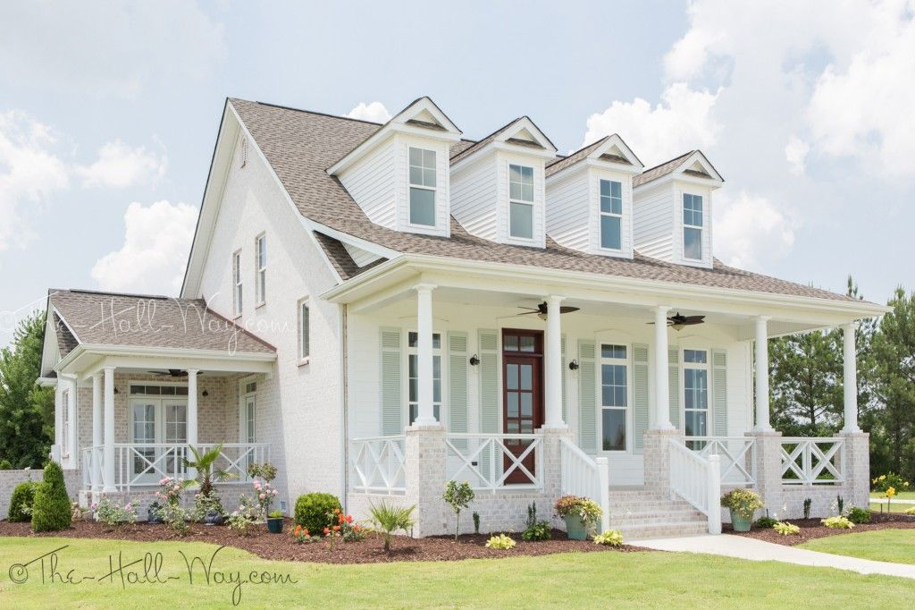 offices painted in sea salt with white furnishings | Southern Living Eastover Cottage Exterior