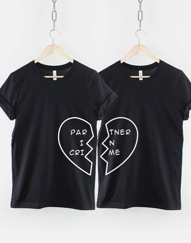 6a97b70dbfc Best Friend Shirts - 2 x Partner In Crime Heart T-Shirt - Twin Pack by  ResilienceStreetwear on Etsy