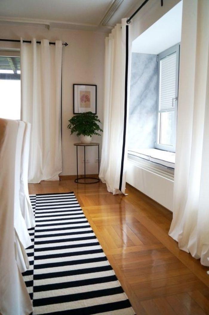 Ikea Merete Curtains Get An Upgrade Grey Curtains Living Room Beige Curtains Homemade Curtains