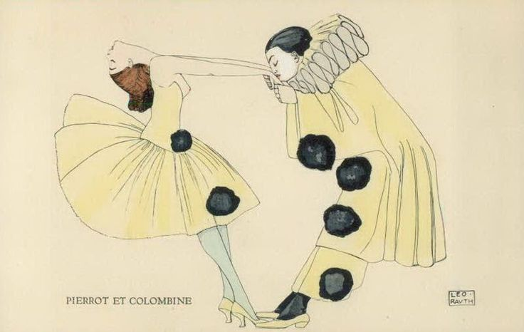 Leo Rauth, Pierrot and Colombine, 1911