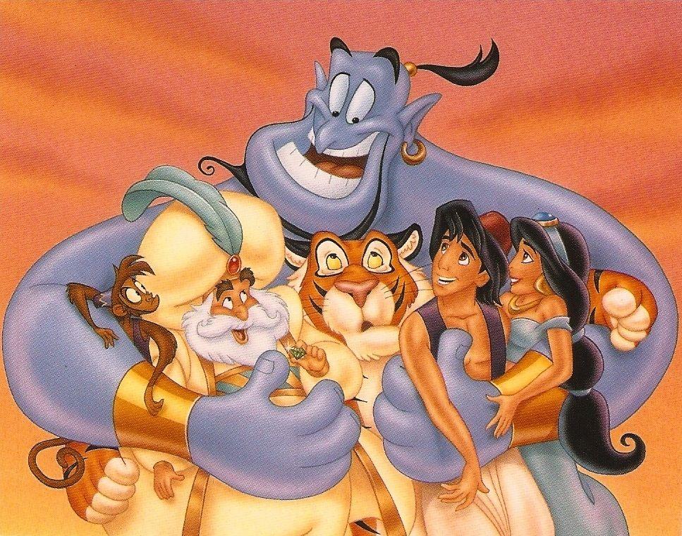 """Aladdin & gang"" © Disney Press - by Phil WIlson ..."