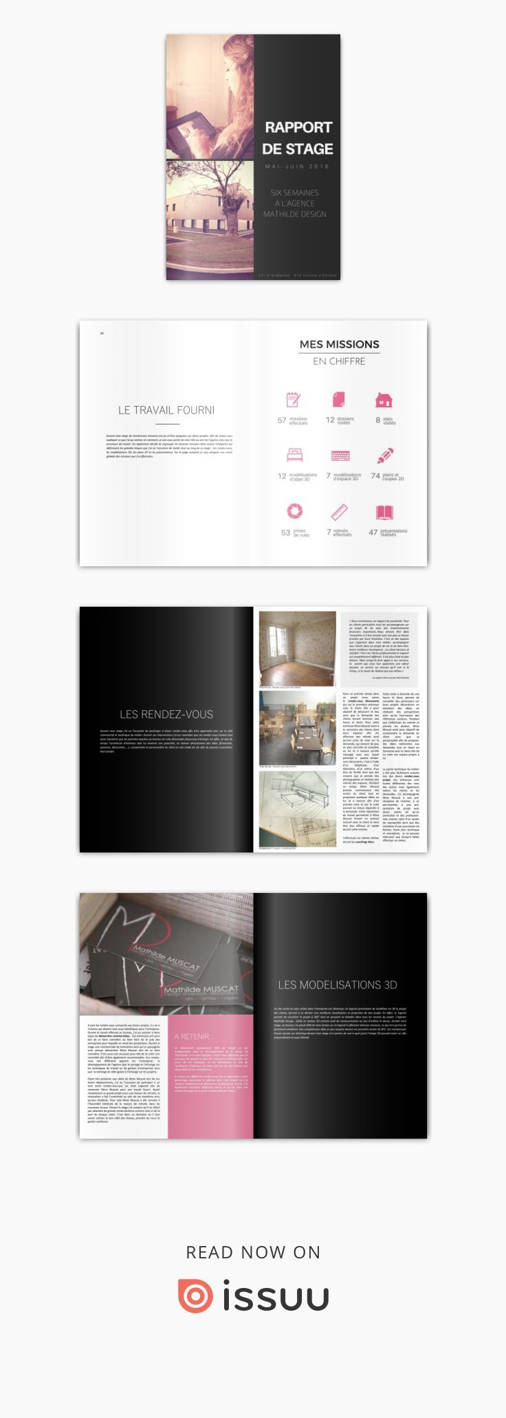 rapport de stage mathilde design