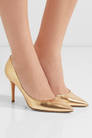 d9e63a085c88 GIANVITO ROSSI 85 metallic lovely leather pumps in 2019