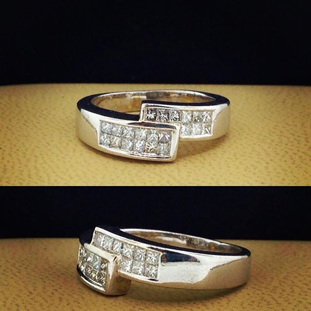 """CANCELLED ORDER. Yours for $499 , retails $1200. 0.65 Ctw. Princess cut diamond band. Very nice quality diamonds. 14k white gold. You are buying direct from the manufacturer. This item is priced below cost. Contact us for all your jewelry needs save hundreds if not thousands. #Toronto #DiamondRing #Wedding #WeddingRing #Bling #Ring #Diamond #jewelry #jewellery #engagement"" Photo taken by @wwwcjoutletca on Instagram, pinned via the InstaPin iOS App! http://www.instapinapp.com (01/05/2016)"