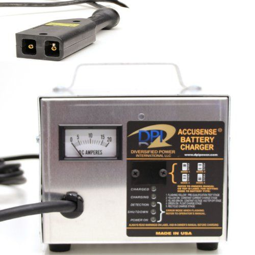 48volt 17amp Golf Cart Battery Charger with EZ-Go TXT-48V connector on