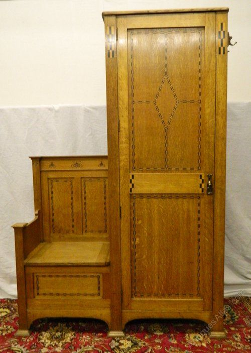 Hall Cupboards Furniture very handsome oak arts & crafts hall cupboard / hall seat