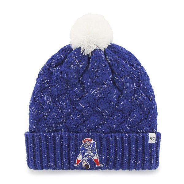 c39beb38d New England Patriots Women's 47 Brand Classic Blue Fiona Cuff Knit ...