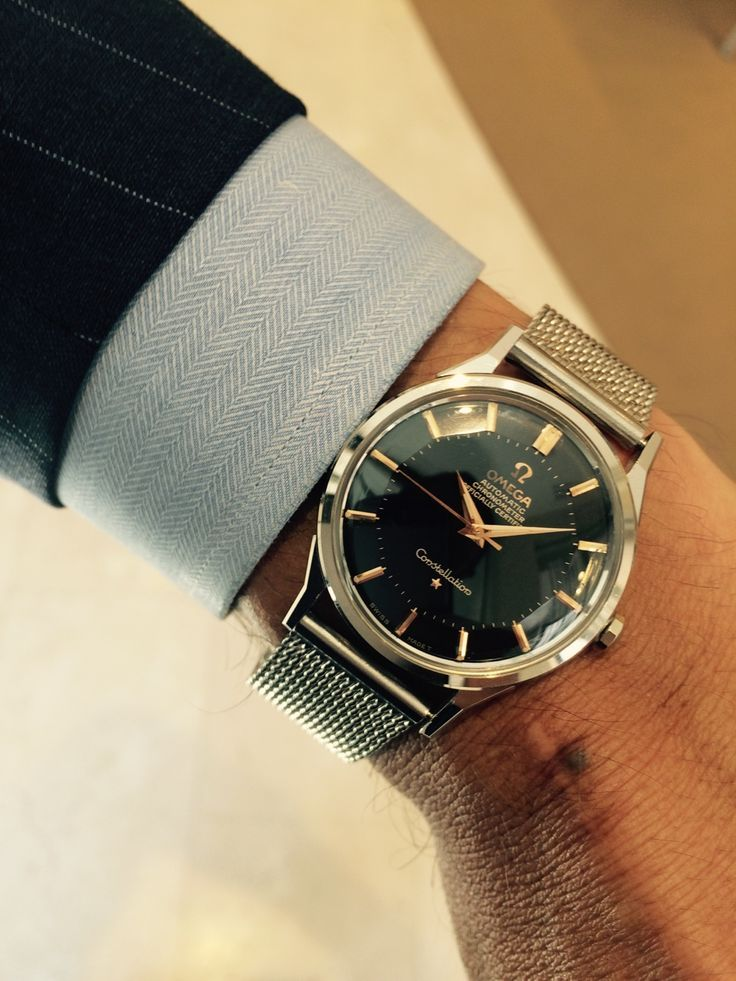 White gold Omega Constellation 50's #vintagewatches