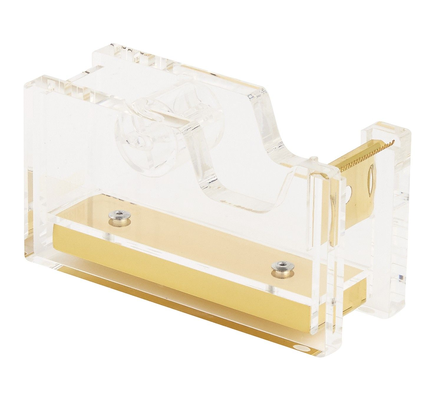 Matching Office Desk Accessories Acrylic Tape Dispenser Gold Accessories Tape