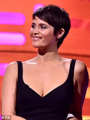 Gemma Arterton shows off new cropped hairdo on Graham Norton show     Now and then  Gemma  with her new cropped hair and last month pictured with  her older  more familiar shoulder length style