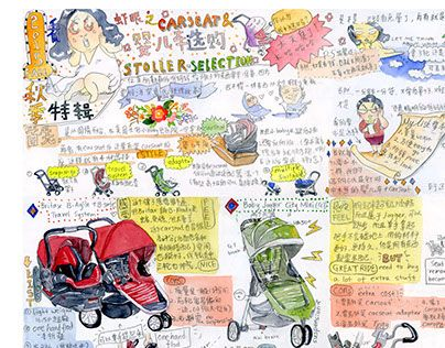 """Check out new work on my @Behance portfolio: """"Car seat & Stroller Selection"""" http://on.be.net/1C7I5Oh"""