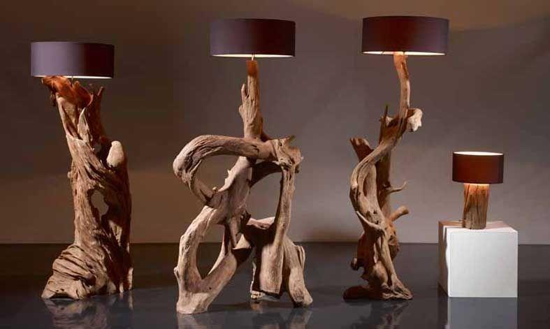 Lamparas naturales raices rusticas l iluminaci n beltran - Lamparas para cocinas rusticas ...