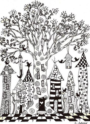 9 Village Zukünftige Projekte Häuser Zeichnen Malvorlagen Und