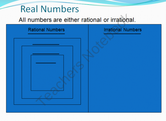 Rational and Irrational Numbers PPT from Middle Grades