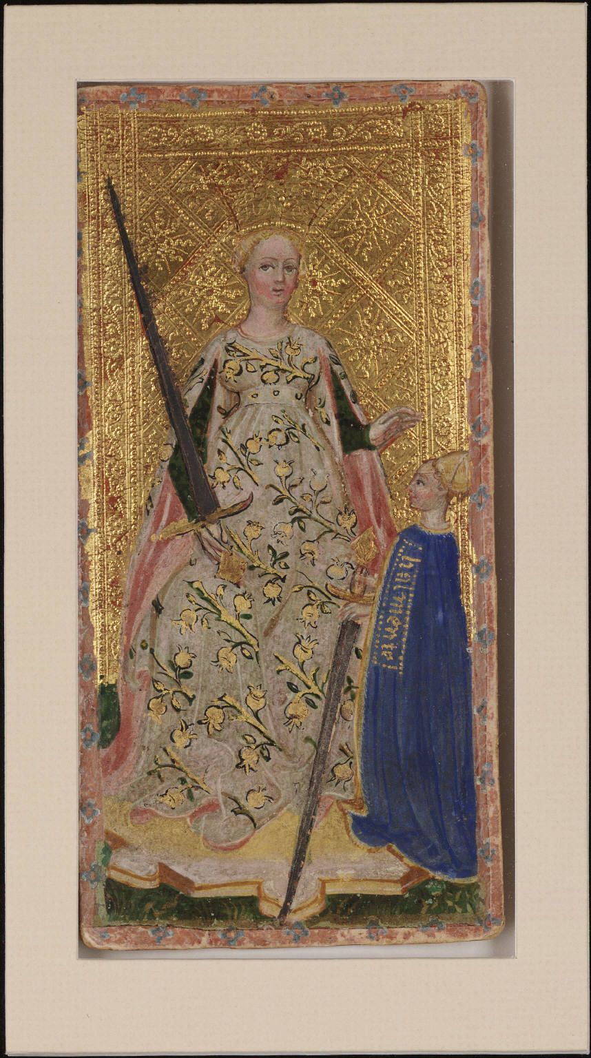 Vintage Tarot Cards : The Queen Of Swords? The Filippo