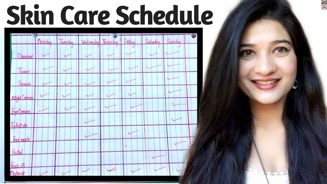 Skin Care Schedule In Hindi I Skin Care Routine I How To Get Clean Clear Skin I Avni Modelbeautyrout In 2020 Clean Clear Skin Dry Skin Routine Oily Skin Care Routine