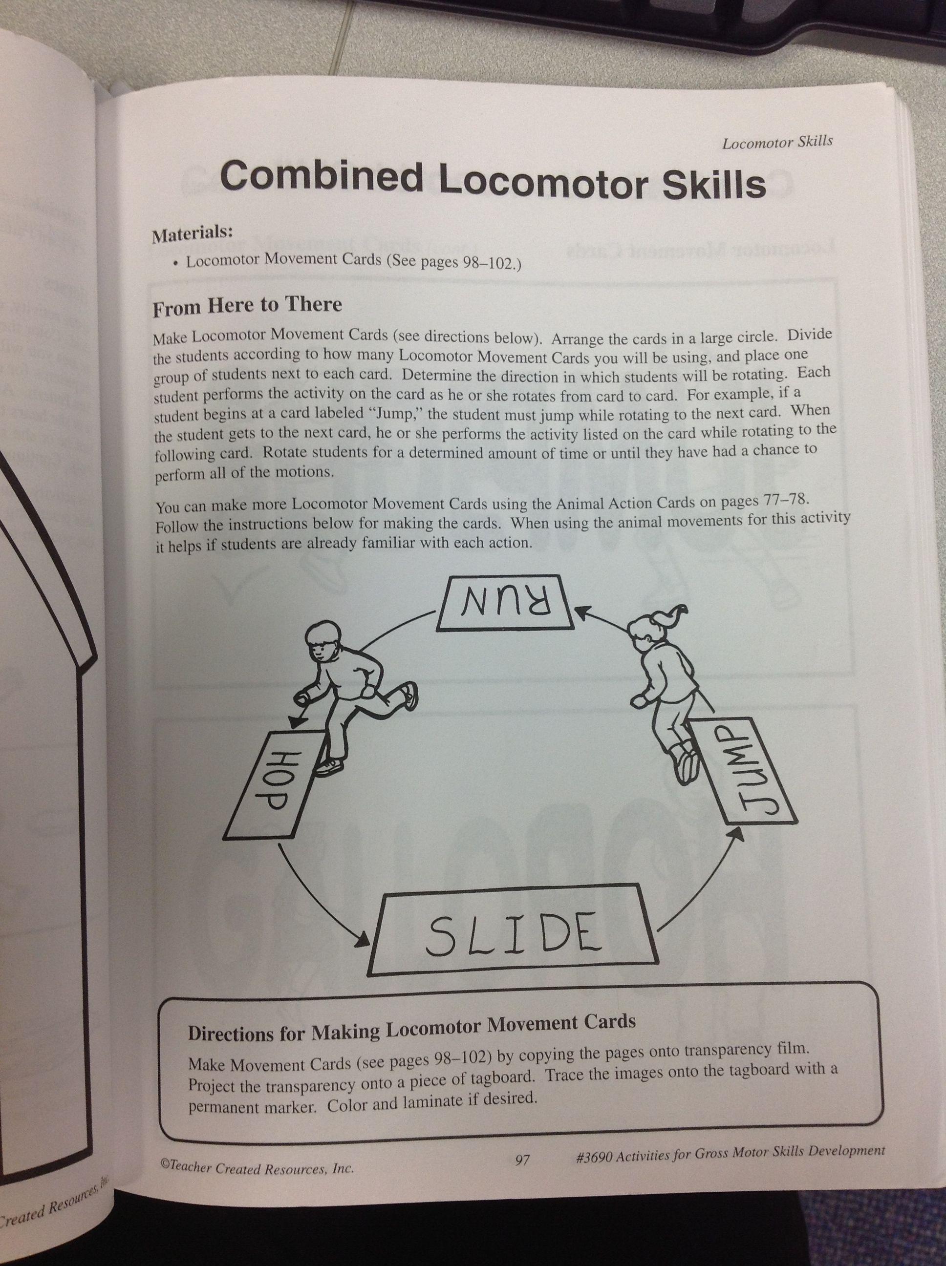 Combined locomotor skills