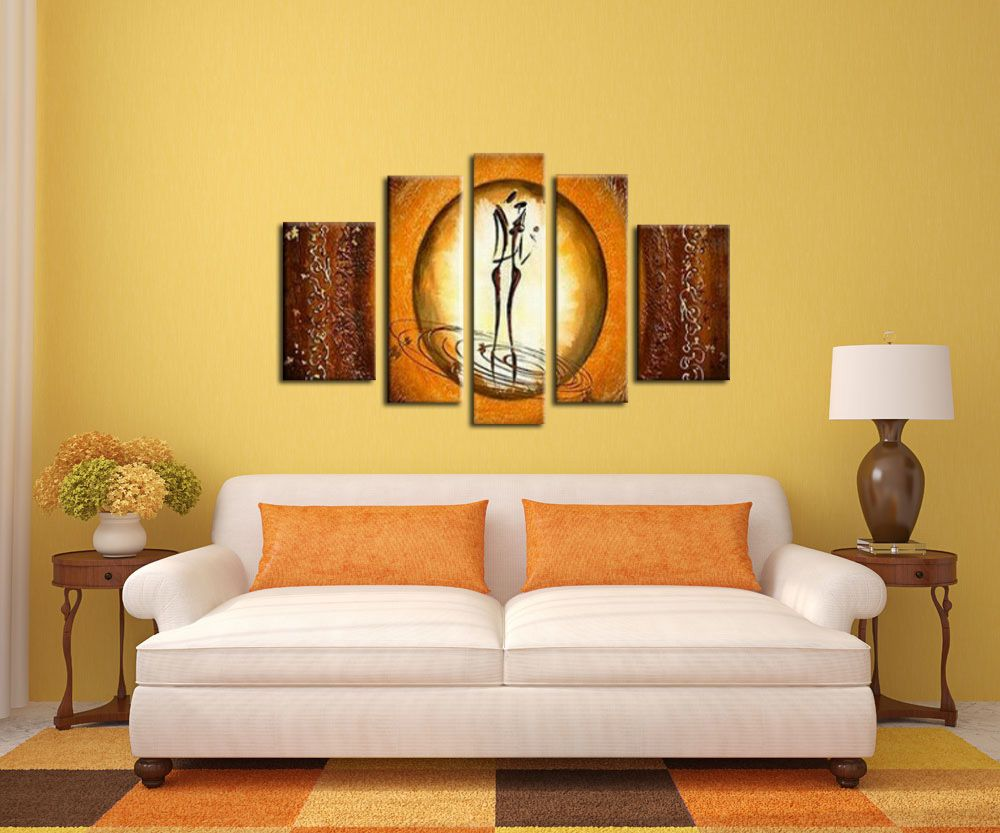 Wall Household goods oil painting Manual Composition of 5 Thick ...