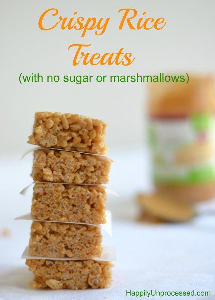 Crispy Rice Treats (Sugar Free, Gluten Free, Marshmallow Free) - Happily Unprocessed