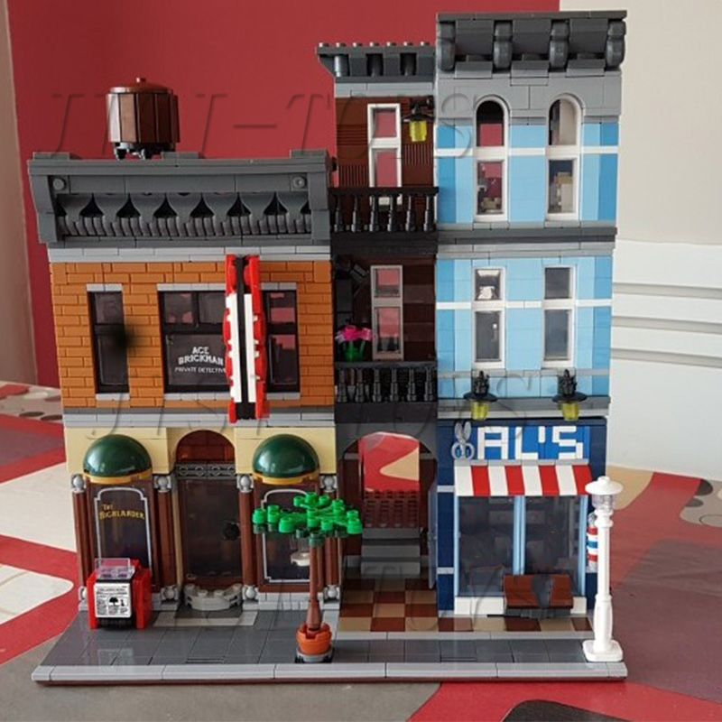Lepin 15011 Series The Detective's Office Set Avengers Set Assemble Building Blocks Toys 10197 Educational Children day's Gift