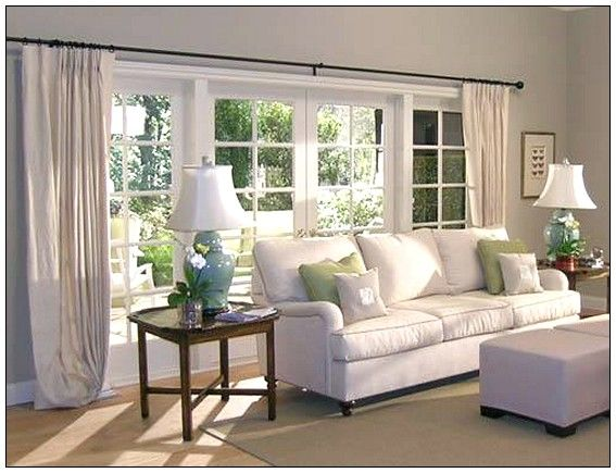 Window treatments ideas window treatments for large for Large living room design ideas