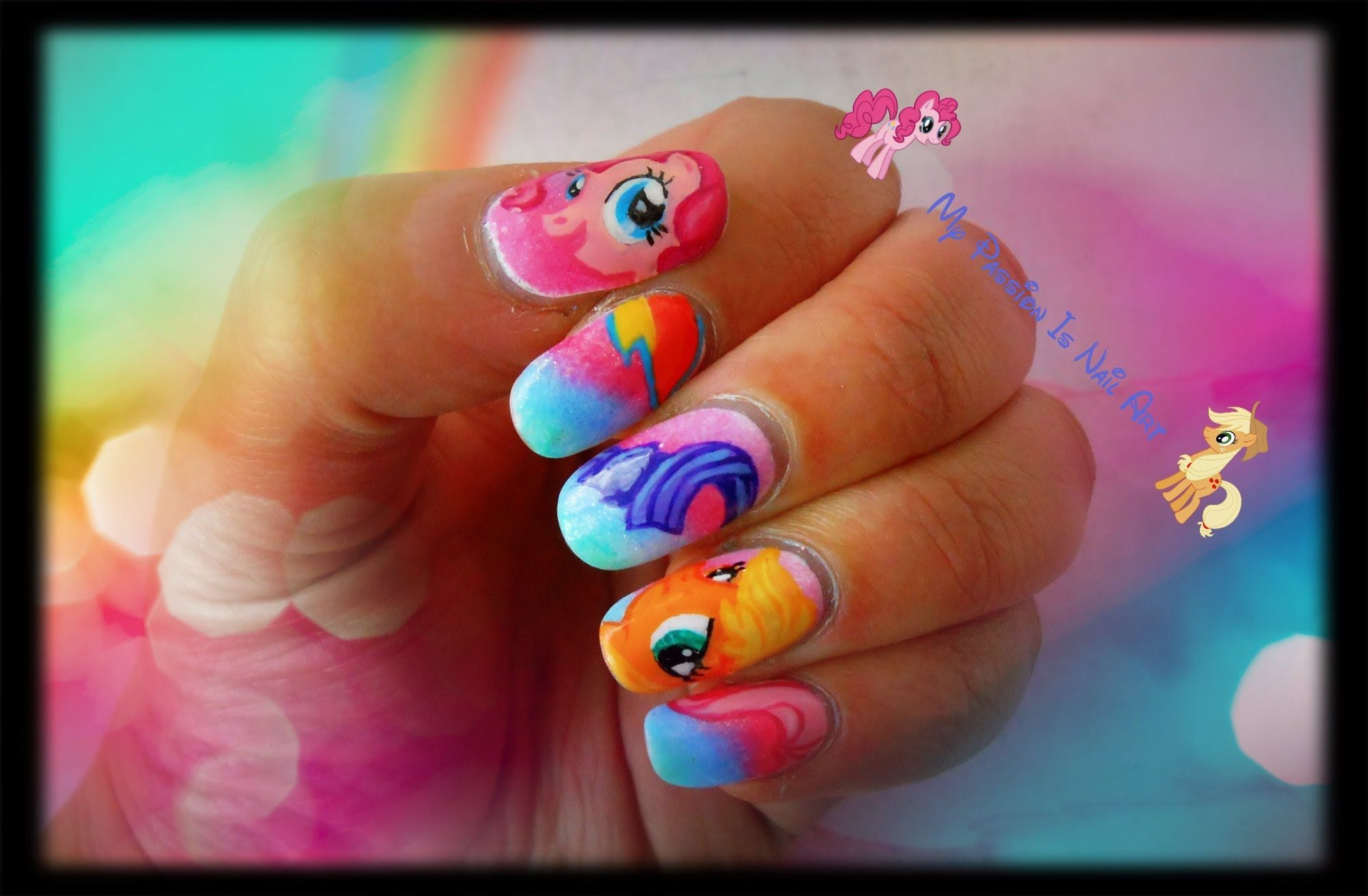 cute my little pony nail art tutorial - Little Girl Nail Design Ideas