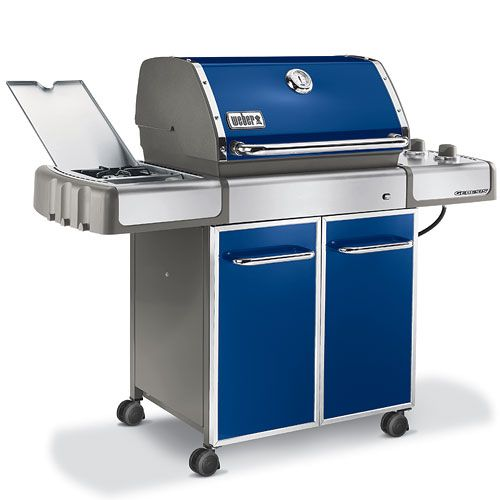 I Want Becasue It Is Blue Weber Genesis E320 42 000 Btu Blue Gas Grill Lp W Side Burner Gas Grill Best Gas Grills Gas Barbecue Grill