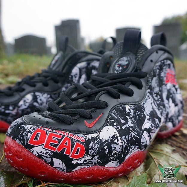huge discount 667dd f90fa Walking Dead Foamposite One nike fetti dbiasi sneaker fairy custom sneaker  halloween