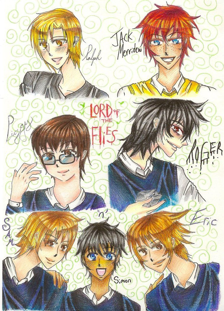 Lord Of The Flies Anime Characters