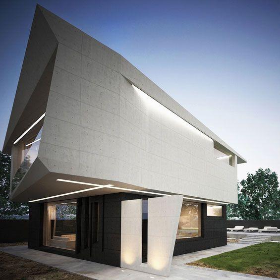 Marcel Luchian Studio  M House Project Architecture, House - facade de maison contemporaine